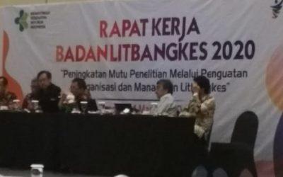 Arahan Menteri Kesehatan Dalam Rapat Kerja Badan Litbangkes Tahun 2020