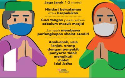 Sholat Idul Adha di Masa Adaptasi Kebiasan Baru